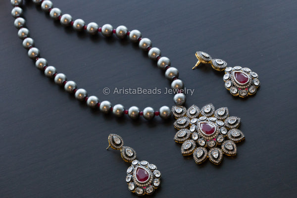 Black Pearl Victorian Necklace