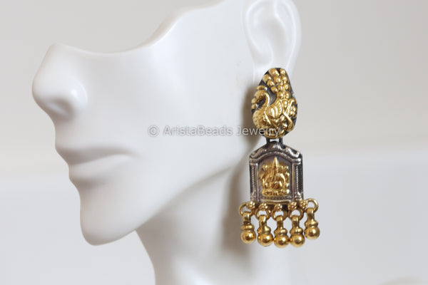 925 Sterling Silver Ganesha Earrings