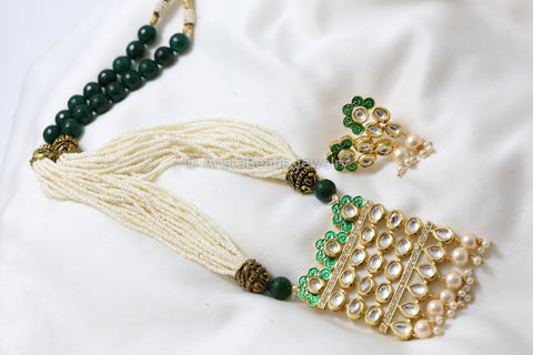 Green Kundan Tanmani Necklace