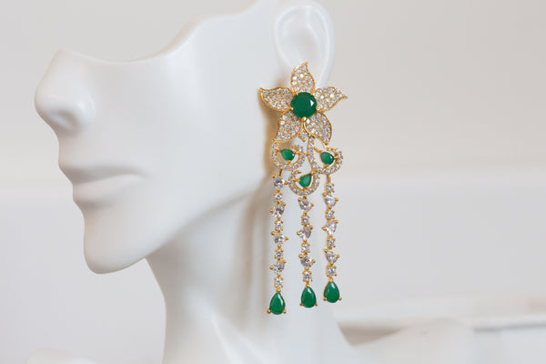Contemporary Emerald Earring