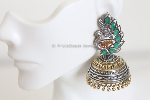 Emerald Two Tone Jhumka