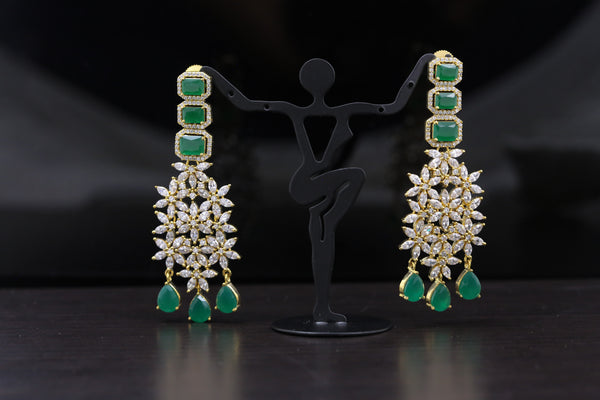 Reserved> Contemporary Emerald Earring