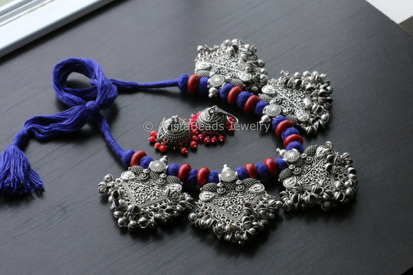 Oxidized Indian Necklace