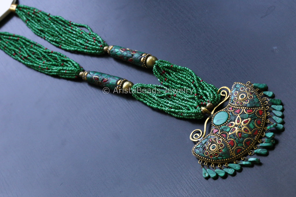 handmade necklace pin afghani nepali gift designer indian traditional