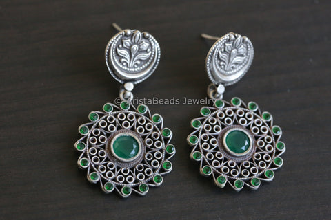 Emerald 925 Sterling Silver Earring