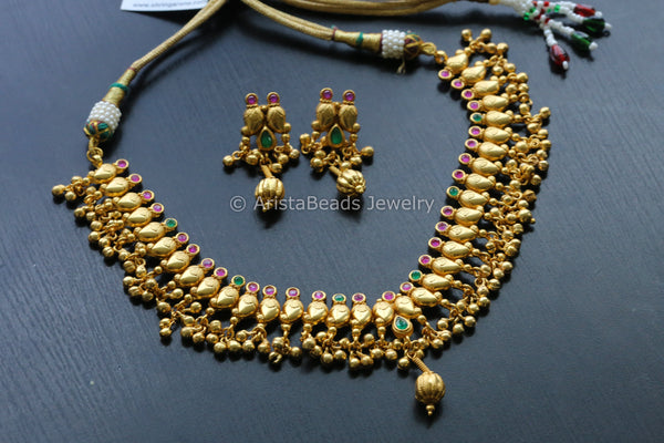 Antique Peacock Polki Necklace