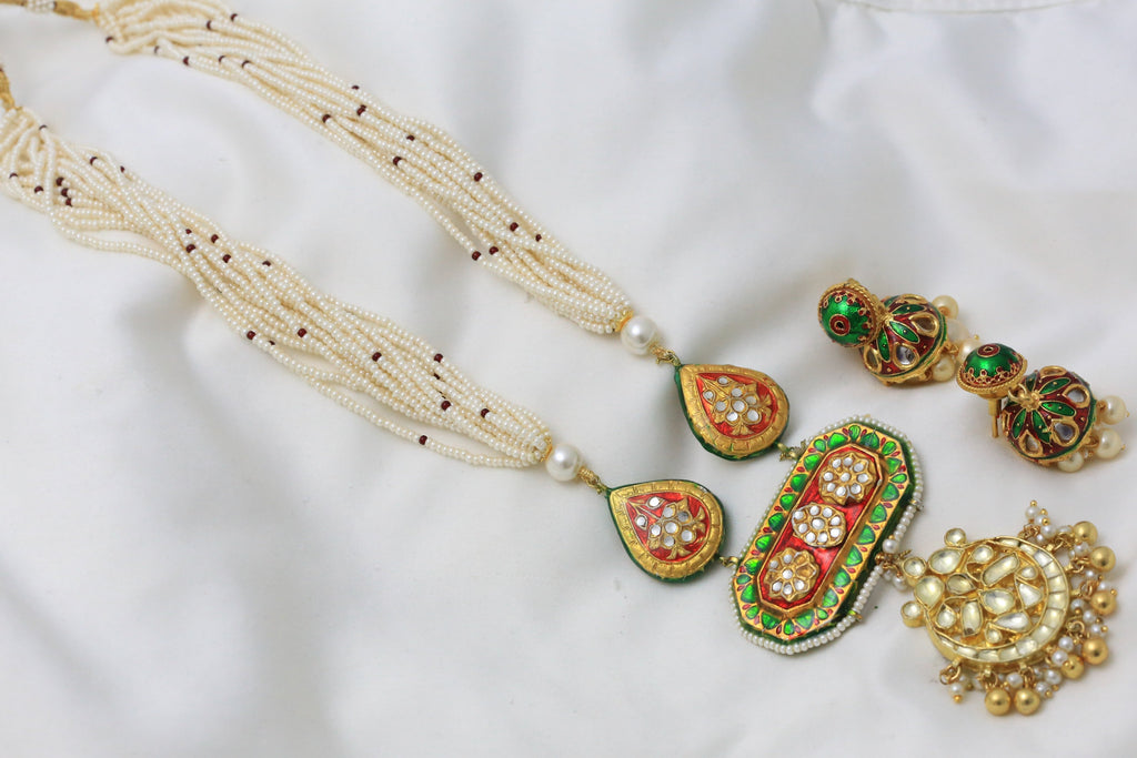 Jadau Kundan Haram Necklace
