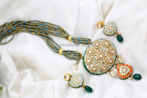 Contemporary Jadau Kundan Necklace Set