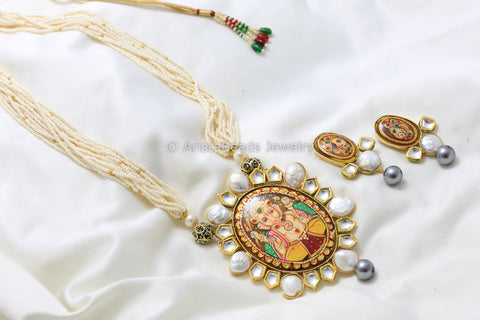 Tanjore Kundan & Baroque Pearls Necklace