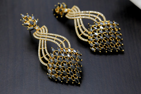 Black CZ Earrings