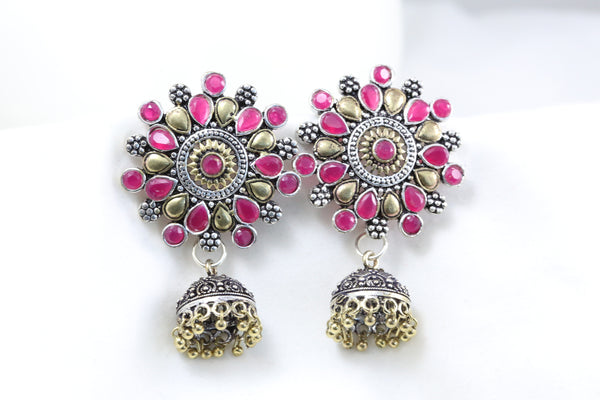 Large Ruby Stud Jhumka