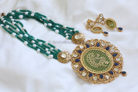 Reserved > Extra Large Kundan Pendant Necklace