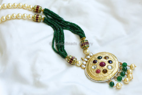 Royal Jadau Navratna Necklace