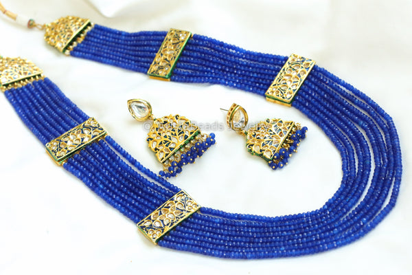 Layered Blue Jadau Rani Haar