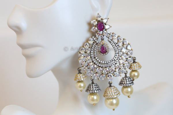 Contemporary Layered Chandbaali Jhumka