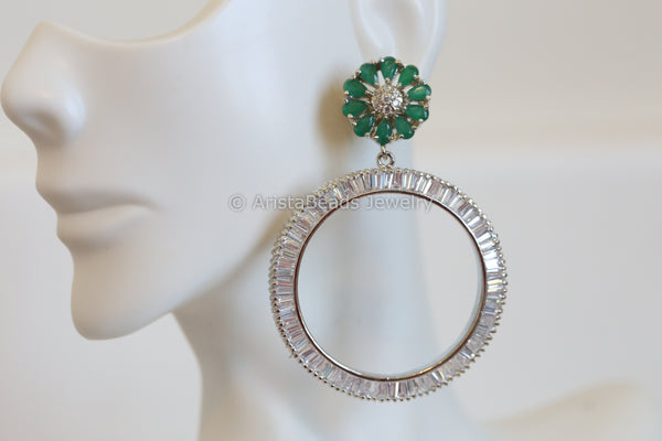 Emerald CZ Earrings