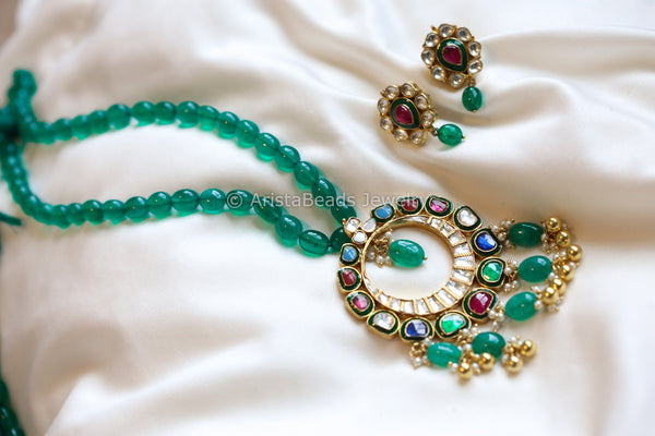Navratna Kundan Pearl Necklace