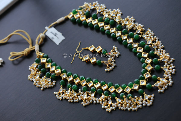 Beaded Kundan Guttapusalu Necklace