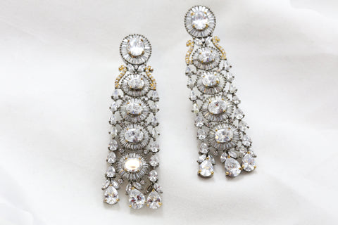 Victorian Clear Stone Earrings