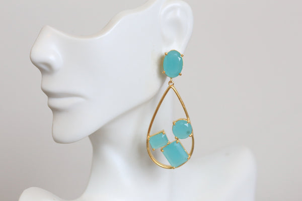 Contemporary Blue Earrings