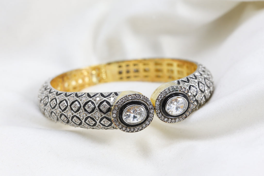 Contemporary Victorian CZ Bracelet (Openable)