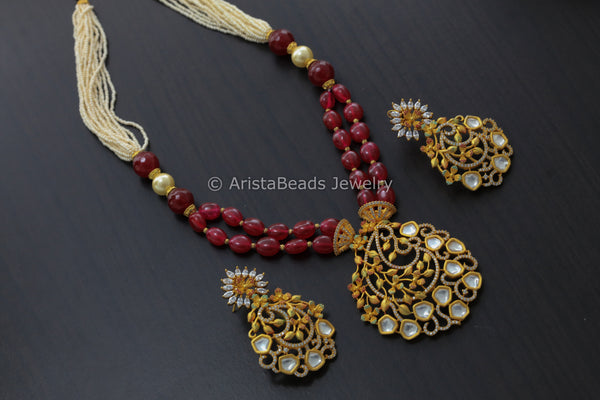Reserved> Contemporary Jadau Kundan Necklace