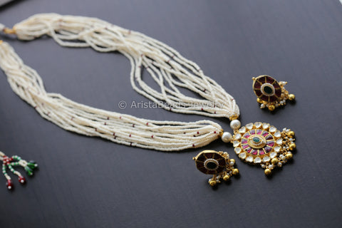 Jadtar Kundan Necklace Set