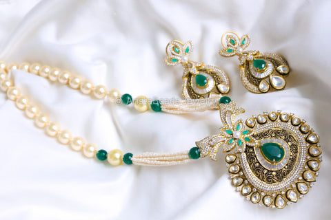 Contemporary Kundan CZ Necklace