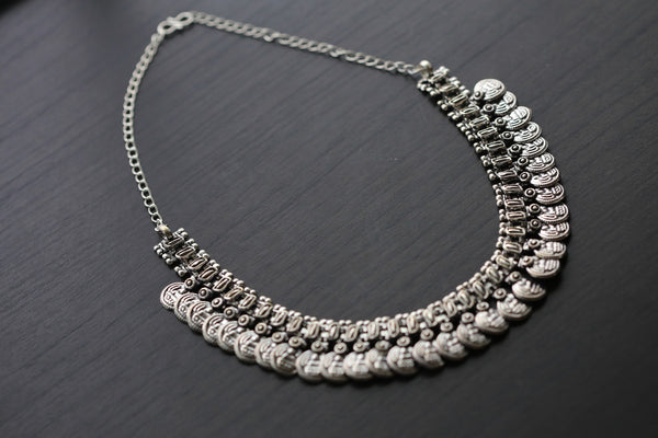 Silver Lakshmi / Laxmi Coin Necklace - AristaBeads Jewelry - 2