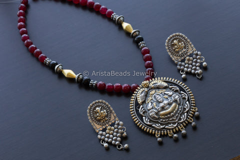 Dual Tone Lakshmi Necklace