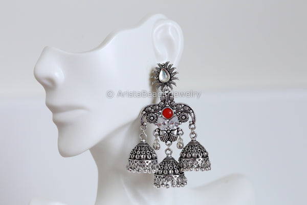 Oxidized Layered Jhumka