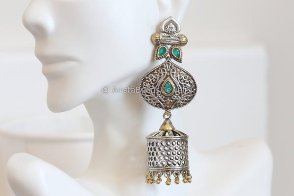 Long Green Jhumka