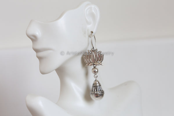 925 Sterling Silver Lotus Drops