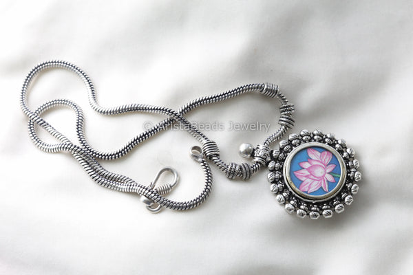 Lotus Tribal Chain Necklace