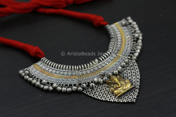 Red Thread Ganesha Necklace