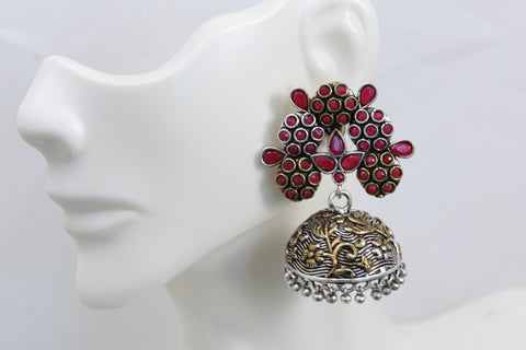 Red Stud Jhumka