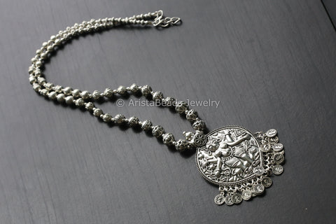 Long Boho Hindu Goddess Necklace