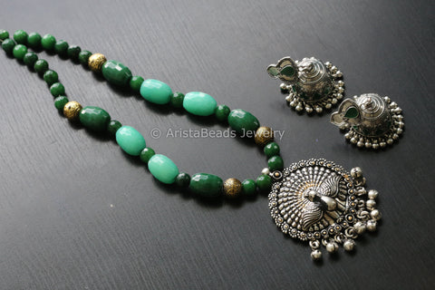 Banjara Peacock Necklace