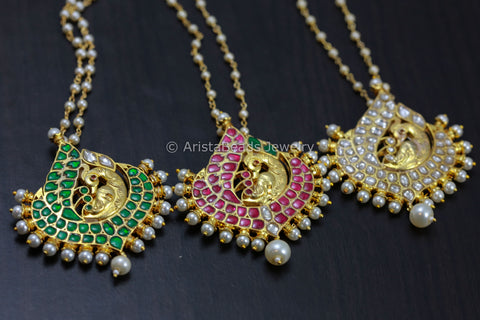 Handmade Delicate Peacock Kundan Necklace