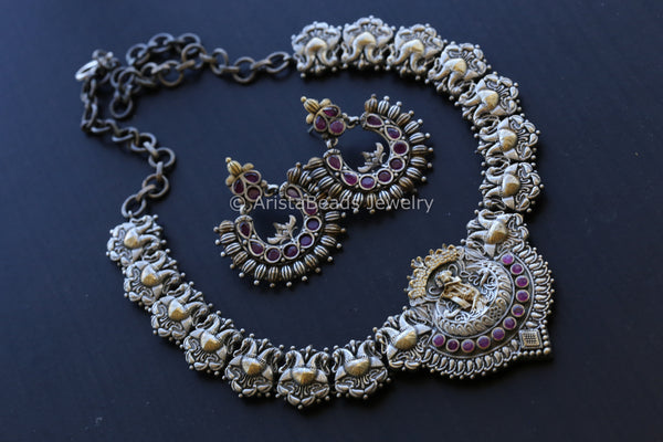 Dual Tone Krishna Necklace