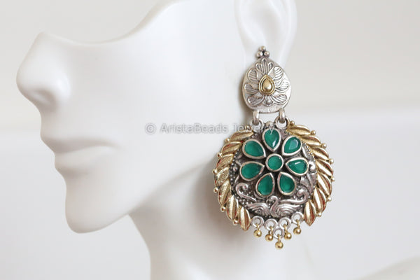 Emerald Two Tone Chandbaali
