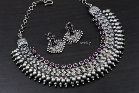 925 Sterling Silver Kemp Necklace Set