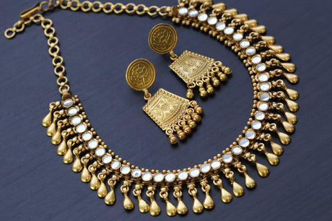 925 Sterling Silver Kundan Necklace