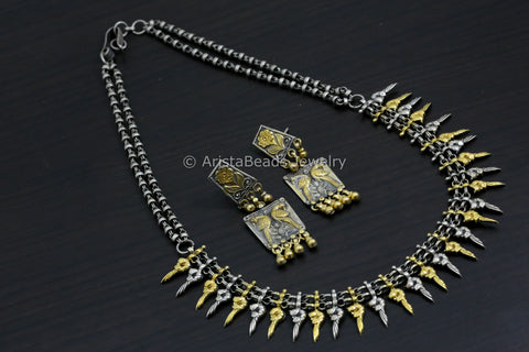 925 Sterling Silver Peacock Motif Necklace