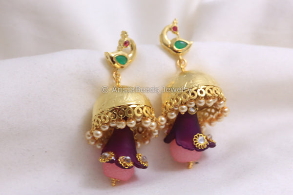 Punjabi Gold  Plated Jhumka