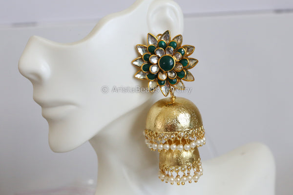 Large Pacchi Jhumka Earrings