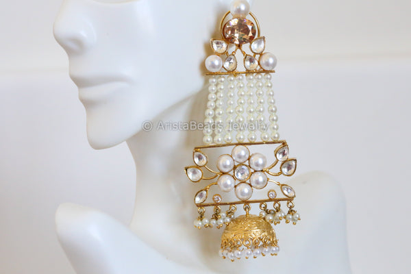 Large Kundan Pasa Earrings
