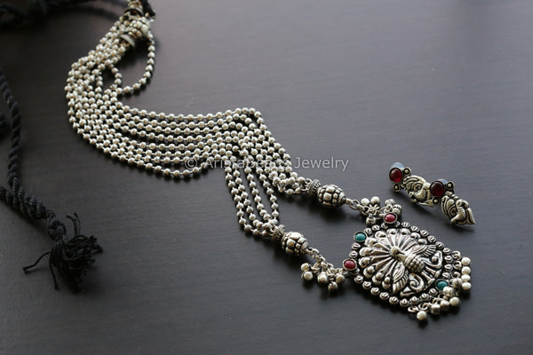 Long Haram Peacock Necklace