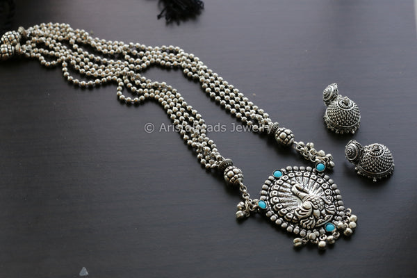 Peacock Long Haram Necklace