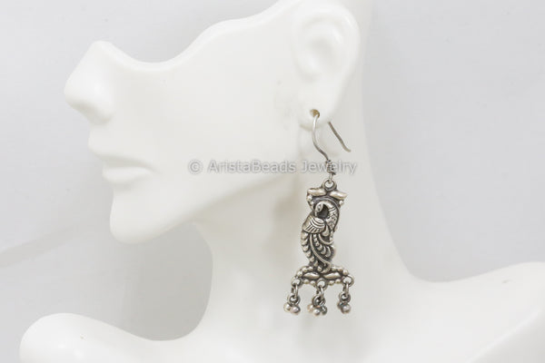 925 Sterling Silver Peacock Earrings